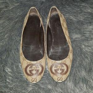 Gucci Monogram Ballet Flats